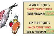Venda tiquets - Pernil - 25/08/18