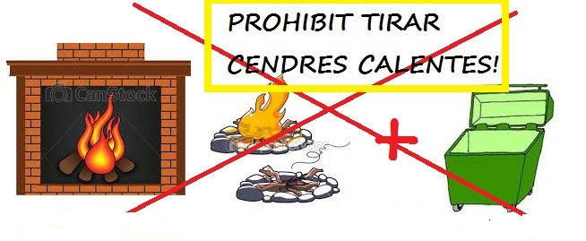 20171018 prohibit tirar cendres calentes al contenidor catala